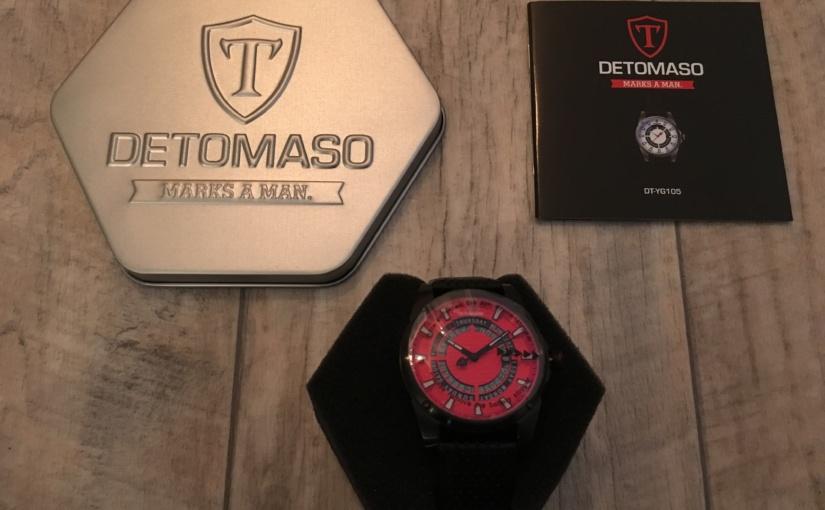 Produkttest – Detomaso Herren-Armbanduhr Business Punk Black/Red Dial