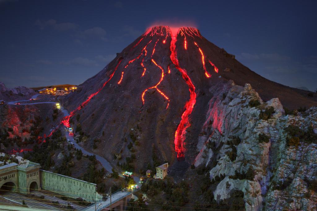 Der Vesuv bricht aus
