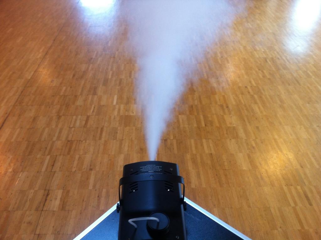 Nebelmaschine in Aktion