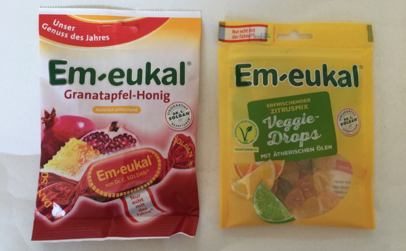 Produkttest – Em-eukal Veggie-Drops und Em-eukal Granatapfel-Honig Bonbons von Dr. C. SOLDAN