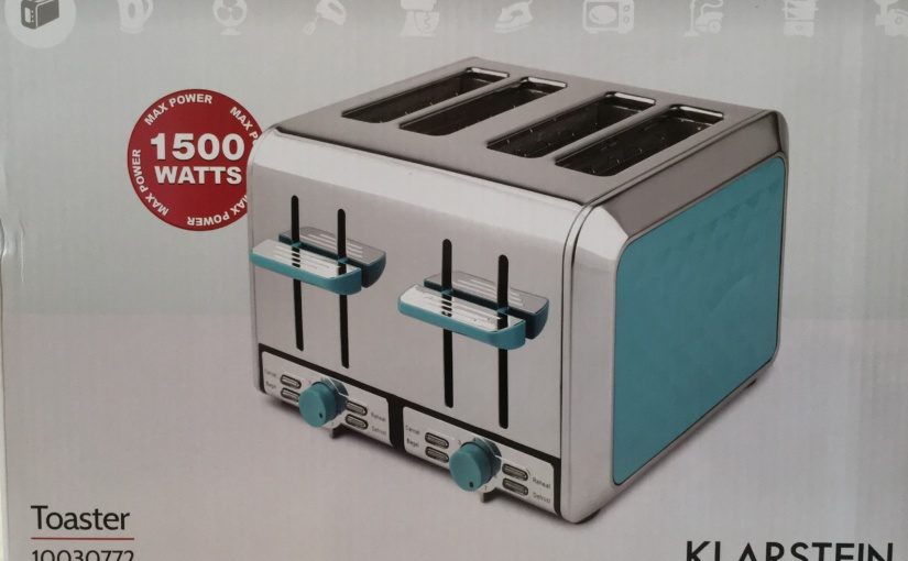 Produkttest – Curacao Azur Toaster 4 Scheiben von Klarstein